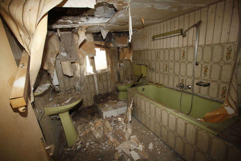 Das Badezimmer in dezentem Grasgrün
